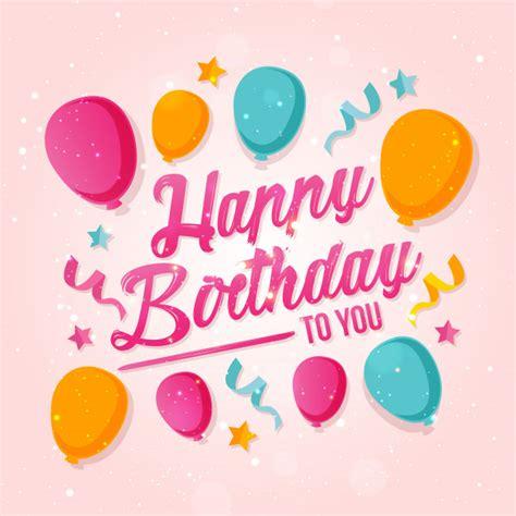 imagenes de happy birthday con mujeres ballon theme happy birthday card illustratie vector