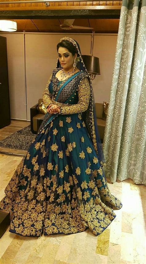 Long Draped Dress Party Wear Wedding Bridal Lehenga Designs 2017 2018 Collection