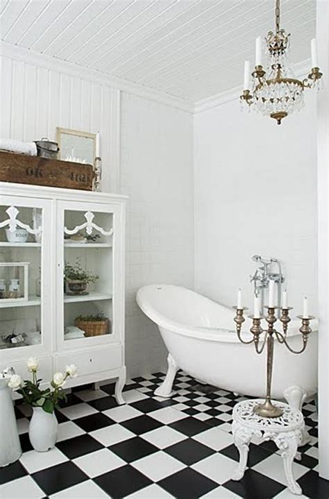 Black And White Checkered Tile Bathroom by Black And White Checkered Bathroom Tiles Make This Room