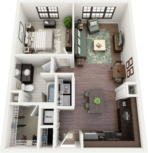 Small L Shaped Kitchen Floor Plans by Designeer Paul 1 Bedroom Apartment House Plans
