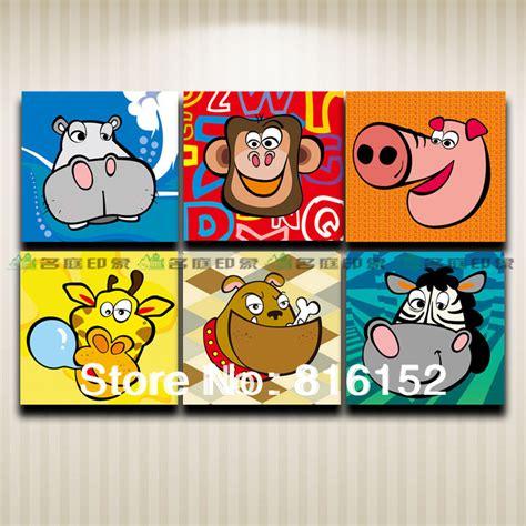 Where To Buy Paintings For Home Decoration aliexpress com buy animal head cartoon graffiti dog
