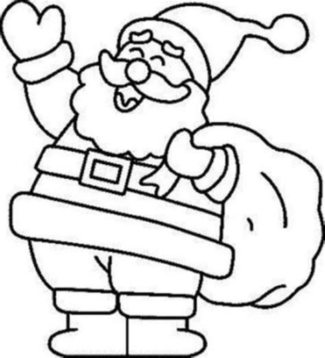 coloring page santa printable free to print home free