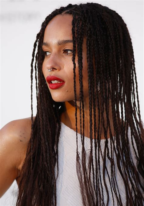 zoe kravitz small braids 11 cool celebrity septum piercings that caught our