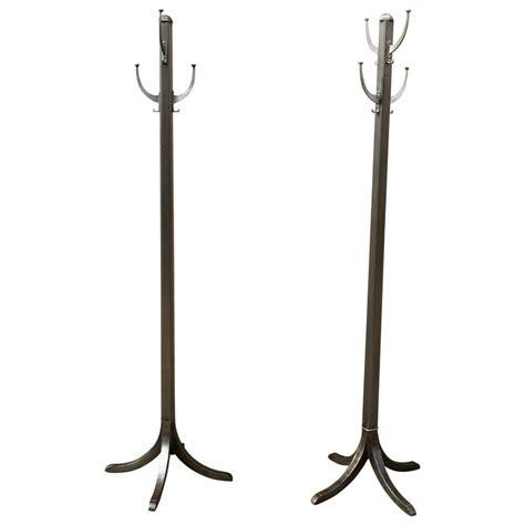 Industrial Coat Rack by 1920s Industrial Brushed Steel Standing Coat Rack For Sale