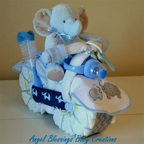Unique Baby Shower Centerpieces Ultimate Boy Baby By Elephant Motorcycle Cake Baby Shower Centerpiece