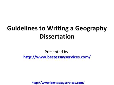 geography dissertation topics guidelines to writing a geography dissertation