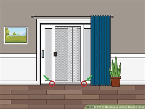 sliding screen door stop remove door stop u201cunplug the door electric