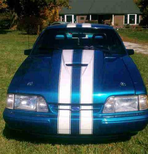 Bc069 Setelan L Blue Stripes Cars find used 1988 ford mustang lx hatchback 2 door 5 0l blue white racing stripes in smithville