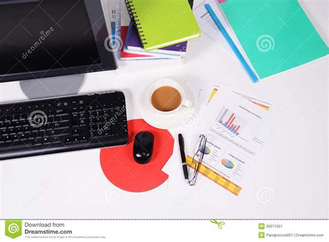 Office Desk Top View Desk Top View Stock Image Image 30071501