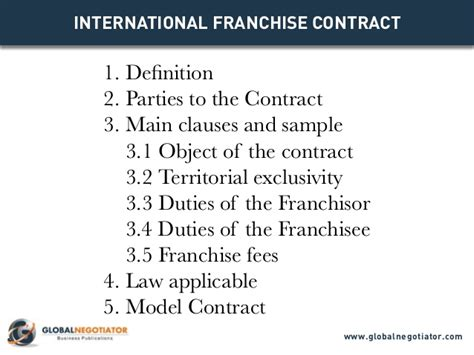 franchise business model template international franchise contract contract template and sle