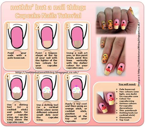 nail art techniques tutorial u 241 as cupckake 9 dise 241 os paso a paso ε dise 241 os de u 241 as