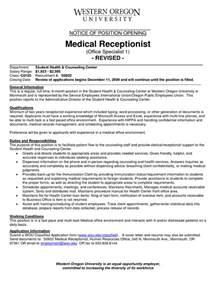 resume samples medical receptionist - Resume Examples For Medical Receptionist