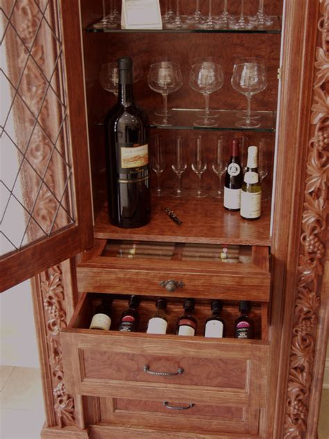 wine cabinet w humidor eclectic wine cellar other