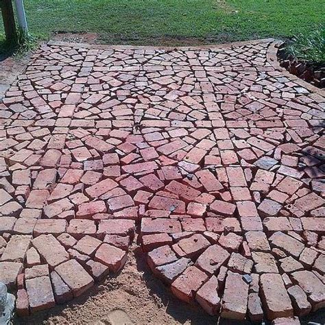How To Use Pavers To Make A Patio Patio Project Using Broken Brick Pavers