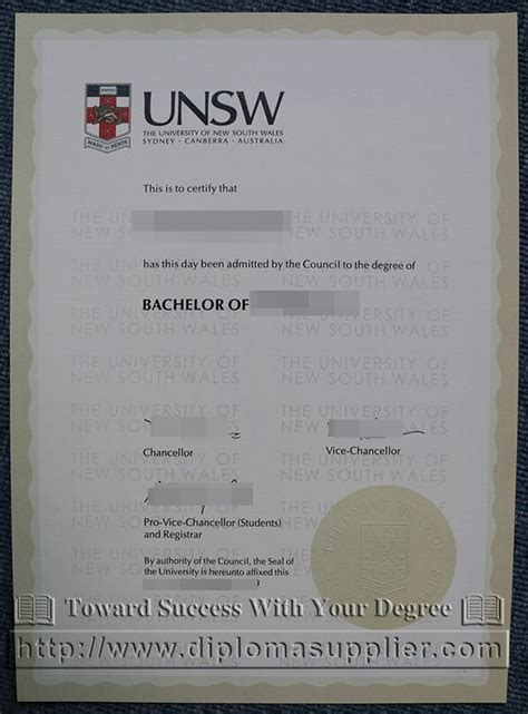 Buy Mba Certificate by Of New South Wales Unsw Degree Certificate How
