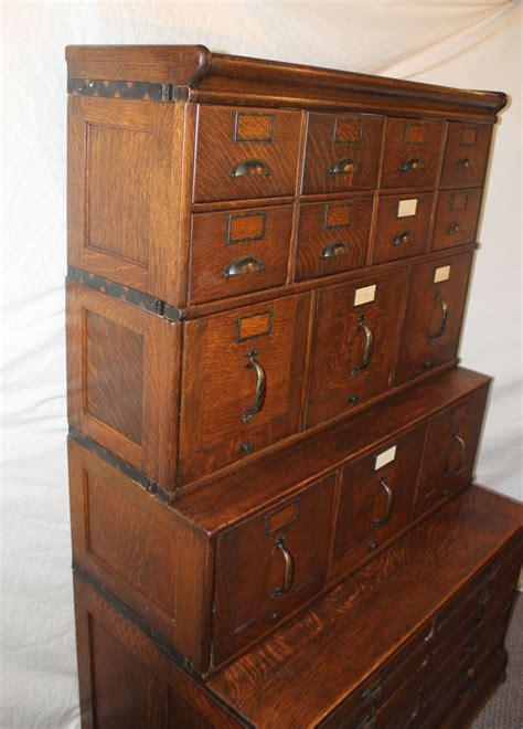 Bargain John's Antiques   Antique Oak File Filing Cabinet