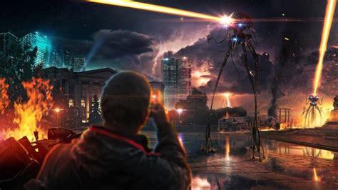 wallpaper alien invasion sci fi lightnings destruction