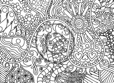 how to draw psychedelic coloring pages