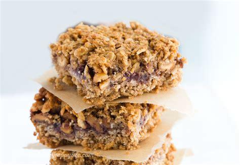 whole grain jam squares peanut jam bars with whole grain oats