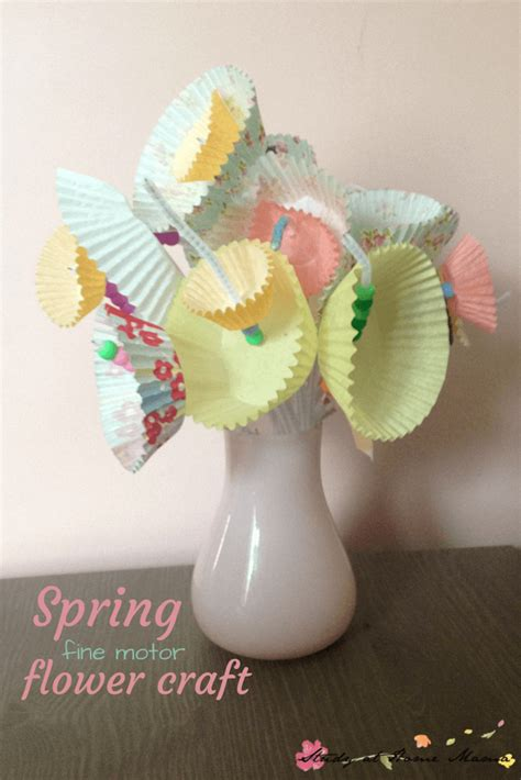 easy flower crafts for easy flower craft for sugar spice and glitter