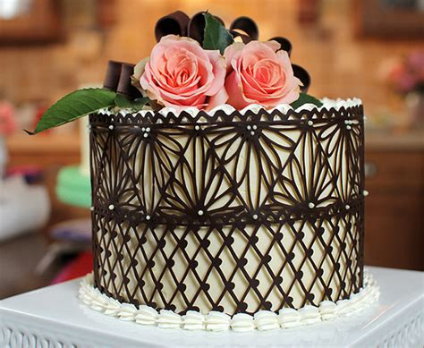 chocolate lace template make a chocolate lace cake decoration fit for a