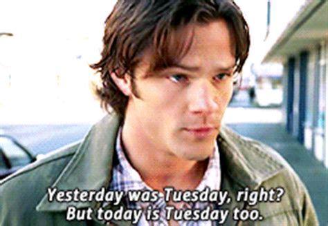 groundhog day supernatural quote book supernatural season 3