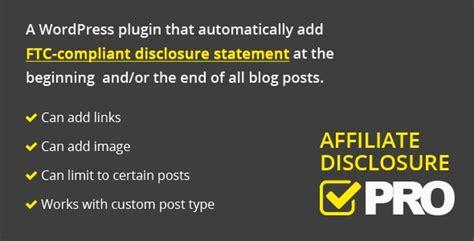 Affiliate Disclosure Pro Wordpress Plugin By Nathanonn Codecanyon Affiliate Link Disclosure Template