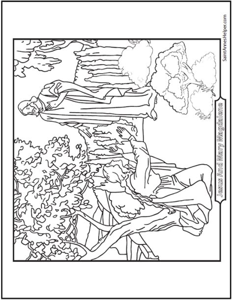 saint mary magdalen coloring page