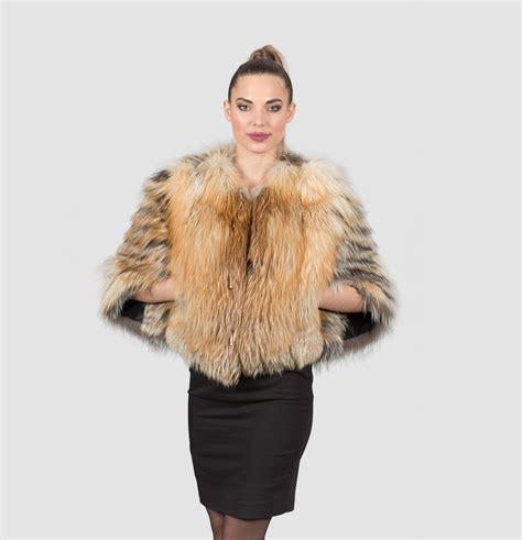 Fox With Fur by Silver Gold Fox Fur Jacket 100 Real Fur Coats And