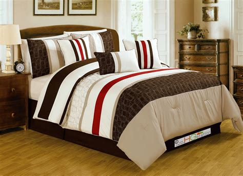 red striped comforter 7 pc geo quilted striped square cascade comforter set