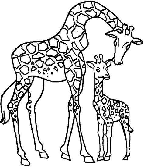 coloring pages with child s name giraffe mother and child coloring page wecoloringpage