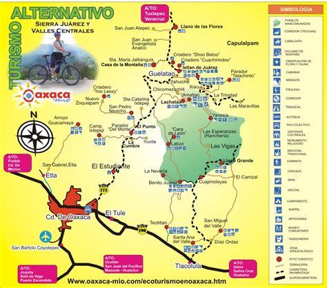 mapa de oaxaca mexico oaxaca turismo mapa