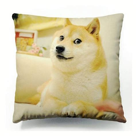 How Much Do Pillow Pets Cost by Doge Cushion Cover Dogs Wow Such Much Meme
