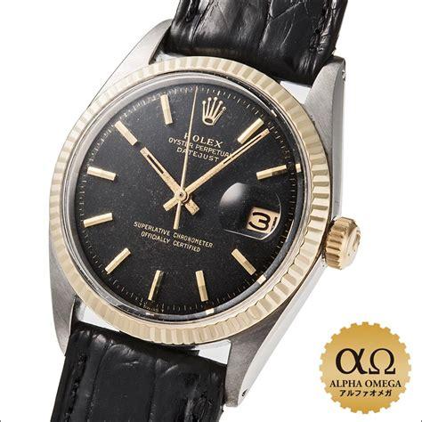 Rolex Romawi Kulit Combi Black chuukotokei rakuten global market rolex date just ref 1601 3 mat black combination ss yg