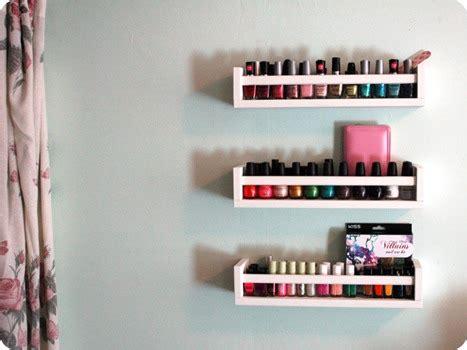 ikea nails how to create nail polish storage with ikea spice racks