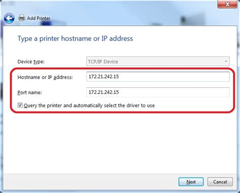 Search By Ip Adding A Printer To Windows By Ip Address Advancement Intranet
