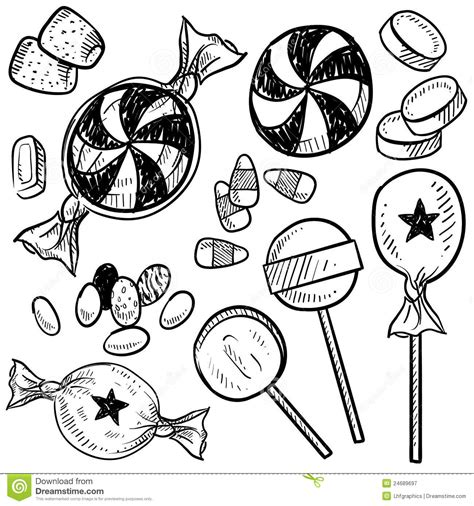 candy vector sketch royalty free stock photography image