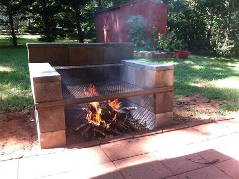 grill backyard build your own backyard concrete block grill easy youtube