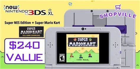 Nintendo 3ds Xl Giveaway - win a nintendo 3ds xl super nintendo edition in the new shopville giveaway