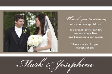 Wedding Thank You For Gift Card - wty0040 wedding thank you card li designs