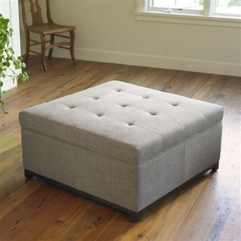 robertson fabric storage ottoman mission furniture
