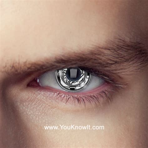 eye lens terminator bionic eye contact lenses pair terminator