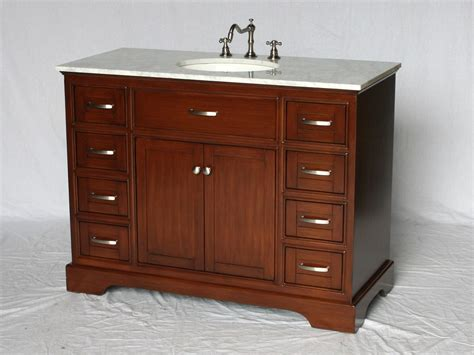 46 Bathroom Vanity by 46 Inch Single Sink Bathroom Vanity Shaker Style Brown Color 46 Realie