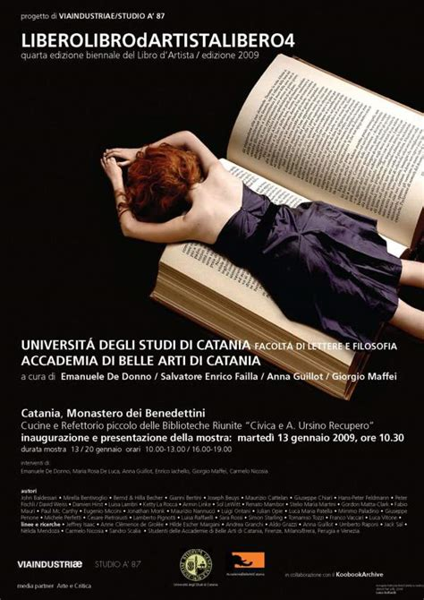 unict it lettere liberolibrodartistalibero universit 224 di catania l agenda