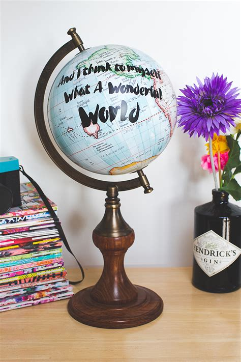 diy quote globe for travel themed wedding