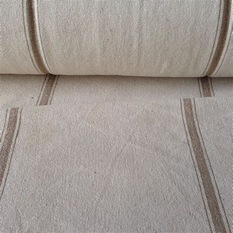 grain sack fabric upholstery grain sack fabric sold by the yard tan stripe vintage inspired