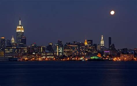 moonlight manhattan from manhattan with books nyc viewed from hoboken nj picture of manhattan