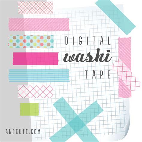 how to use washi tape digital washi tape graphics freebie