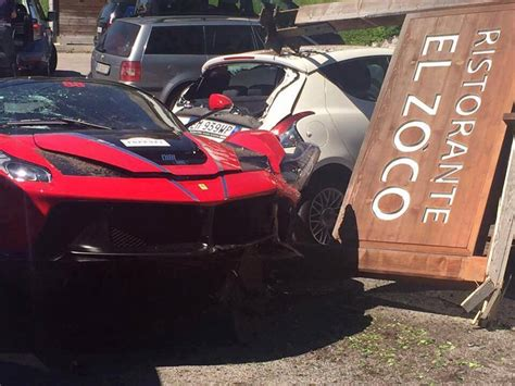 laferrari crash laferrari driver crashes into another laferrari after