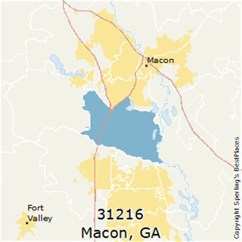 macon zip code map best places to live in macon zip 31216